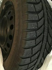 2 winter tire's on 5 bolt rims 195/65 R15