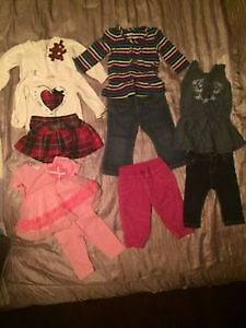 Like New! (20) Pieces Little Girl Clothes 6-9 momtjs
