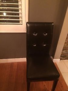 Black Bonded Leather - comes with free garbage bin for desk Kitchener / Waterloo Kitchener Area image 1