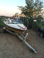 1981 14.5 foot boat and trailer