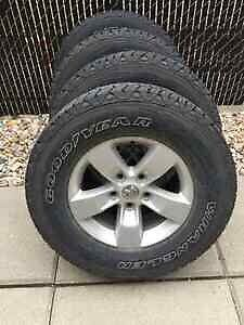 2015 ram 1500 rims and tires Goodyear silent armour