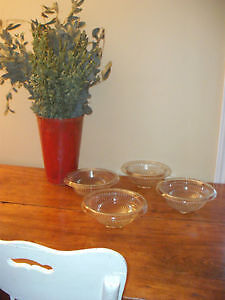 Antique Depression Glass Ribbed Mixing Bowls