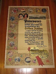 1936 Vancouver Golden Jubilee poster