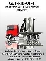 Available 7 days a week for junk removal
