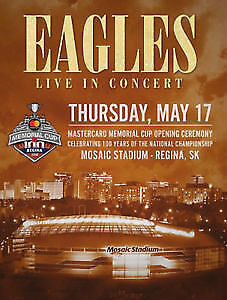 ****Eagles Tickets - May 17, 2018 - Mosaic Stadium - Regina****