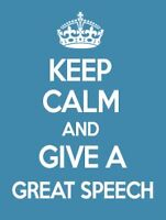 Learn Fast How To Give a Great Speech!