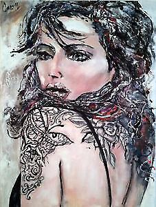 Painting ''Women with tattoo'' Gatineau Ottawa / Gatineau Area image 1