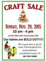 Pike Lake Craft Sale