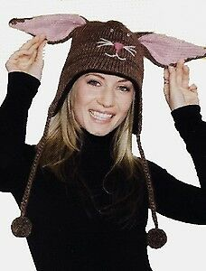 Brand New Adult DeLux Bunny Pilot Hat Halloween Costume