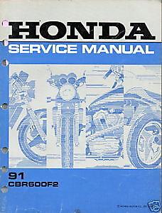 1991 CBR600F2 Service Manual