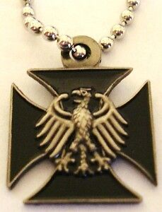 German Eagle Iron Cross WW2 Sniper PENDANT NECKLACE w/ chain