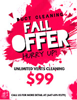 Residential Duct Cleaning Services $99