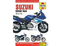 Suzuki GS500 Haynes Manual