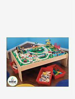 Imaginarium wooden train table with tracks and village