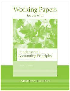 Working Papers for Fundamental Accting Principles Vol 1