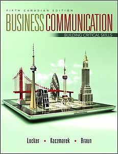 Business Communication. Building Critical Skills 5th Canadian