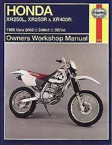 Hayes Honda XR250 XR400 Workshop Manual