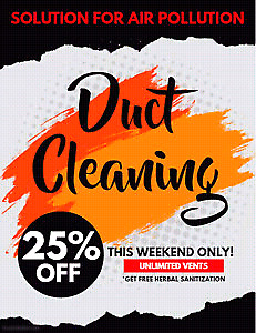 Saturday Special Deal For Duct cleaning $99.99