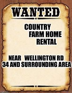 SEEKING COUNTRY HOME - PROFESSIONAL FAMILY