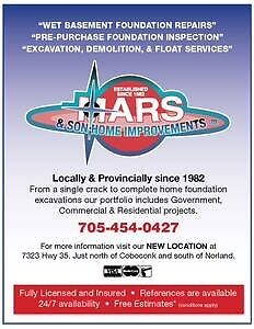 Wet leaky basement repairs since 1982 Kawartha Lakes Peterborough Area image 1