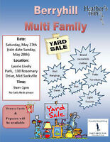 Berryhill Multi-Family Yard Sale, Middle Sackville