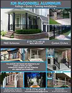 Aluminum railings and Glass railings and gates