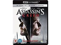 Assassin's Creed 4K HDR UHD UltraHD Blu-ray Digital HD film brand new sealed