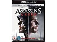 Assassin's Creed 4K UHD UltraHD Blu-ray Digital HD film brand new sealed