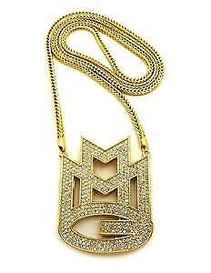 "ICED OUT 18K GOLD PLATED ""MMG""  CHAIN"