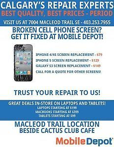ALL CELL PHONE REPAIRS. Samsung, IPhone, BlackBerry, HTC
