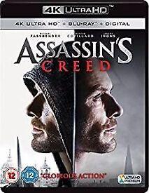 Assassin's Creed 4K UHD UltraHD Blu-ray Digital HD film brand new sealed Christmas present