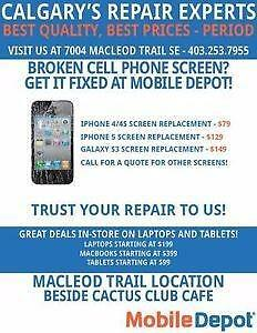 IPHONE REPAIRS, ALL MODELS, SCREENS, DIGITIZERS, CHARGER PORT…