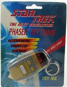 Star Trek TNG Phaser Key Chain - Vintage (New in Pkg) (1994)