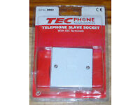 TEC TELEPHONE SLAVE SOCKET WITH IDC TERMINALS NO.3862 LOOK PHONE EXTENSION CE..*