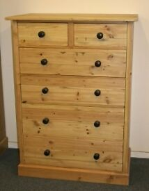 RECLAIMED PINE 2 OVER 4 CHEST OF DRAWERS