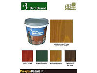 1 x 5 litre Bird Brand Shed and Fence One Coat Protection wood stain Autumn Gold