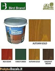1 x 5 litre Bird Brand Shed and Fence One Coat Protection wood stain COLLECTION