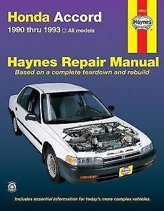 Charming Honda Accord Repair Manuals