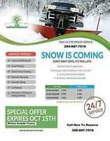 Now Booking Residential & Commercial Snow Removal Services