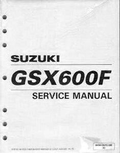 Suzuki GSX600F Katana Service Manual