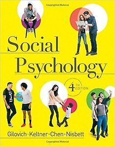 Social Psychology Fourth Edition Kitchener / Waterloo Kitchener Area image 1