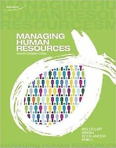 Managing Human Resources 7th Canadian Edition, $60 or Best Offer