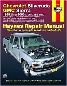 Lightly Used Haynes 99-06 Silverado/Sierra Repair Manual