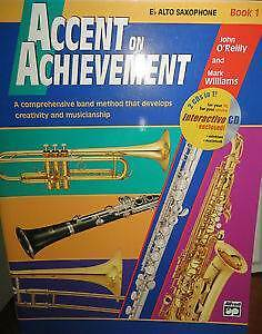 Accent on Achievement, Book 1: E-Flat Alto Saxophone, Book & CD Darch Wanneroo Area Preview