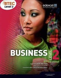 BTEC First Level 2 in Business Book