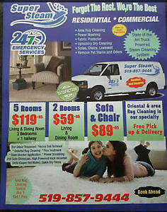 CARPET CLEANING WHOLE HOUSE 119.95 (UPTO 5 ROOMS) London Ontario image 1