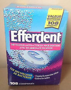 New Efferdent Anti-Bacterial Denture Cleaner 108 Tablets