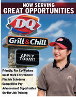 DQ Now Hiring Full Time Chill Staff