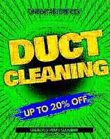 Air Duct Cleaning 20% off