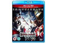 CAPTAIN AMERICA CIVIL WAR BLU RAY DVD BRAND NEW AND SEALED BARGAIN!